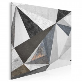 Betonowy las - nowoczesny obraz na płótnie - w kwadracie