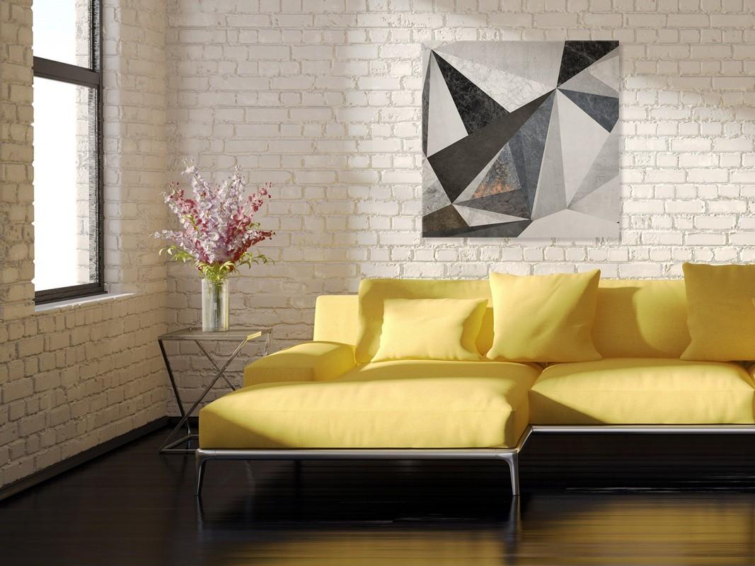 Betonowy las - nowoczesny obraz na płótnie - 80x80 cm