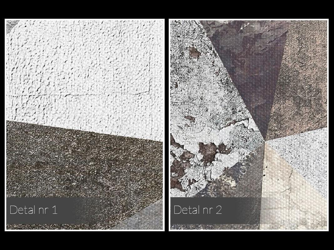 Skalne miasto - nowoczesny obraz na płótnie - 80x80 cm