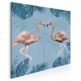Tropikalny duet - nowoczesny obraz na płótnie - 80x80 cm