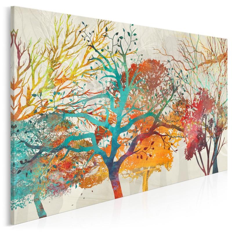 Esencja natury - nowoczesny obraz na płótnie - 120x80 cm