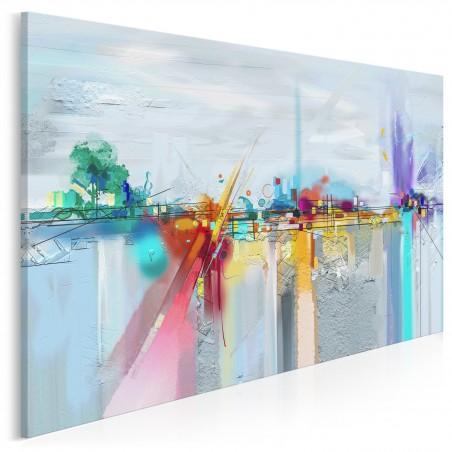 Hydrosfera - nowoczesny obraz do salonu - 120x80 cm