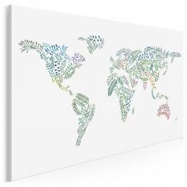 Terra botanica - nowoczesny obraz na płótnie