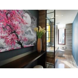 Święto Hanami - nowoczesny obraz na płótnie - 120x80 cm