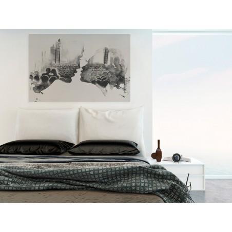 Love story - nowoczesny obraz na płótnie - 120x80 cm