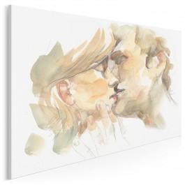Przyjaźń czy kochanie? - nowoczesny obraz na płótnie - 120x80 cm