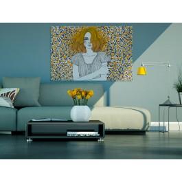Marzycielka - nowoczesny obraz na płótnie - 120x80 cm