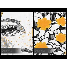 Marzycielka - nowoczesny obraz na płótnie