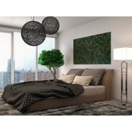 Szmaragdowy kobierzec - nowoczesny obraz do sypialni