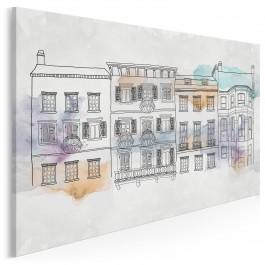 Villa Parisiana - nowoczesny obraz na płótnie - 120x80 cm