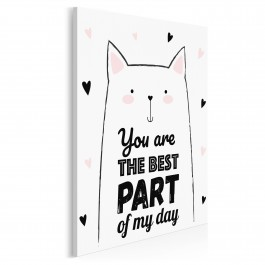You are the best part of my day - nowoczesny obraz na płótnie