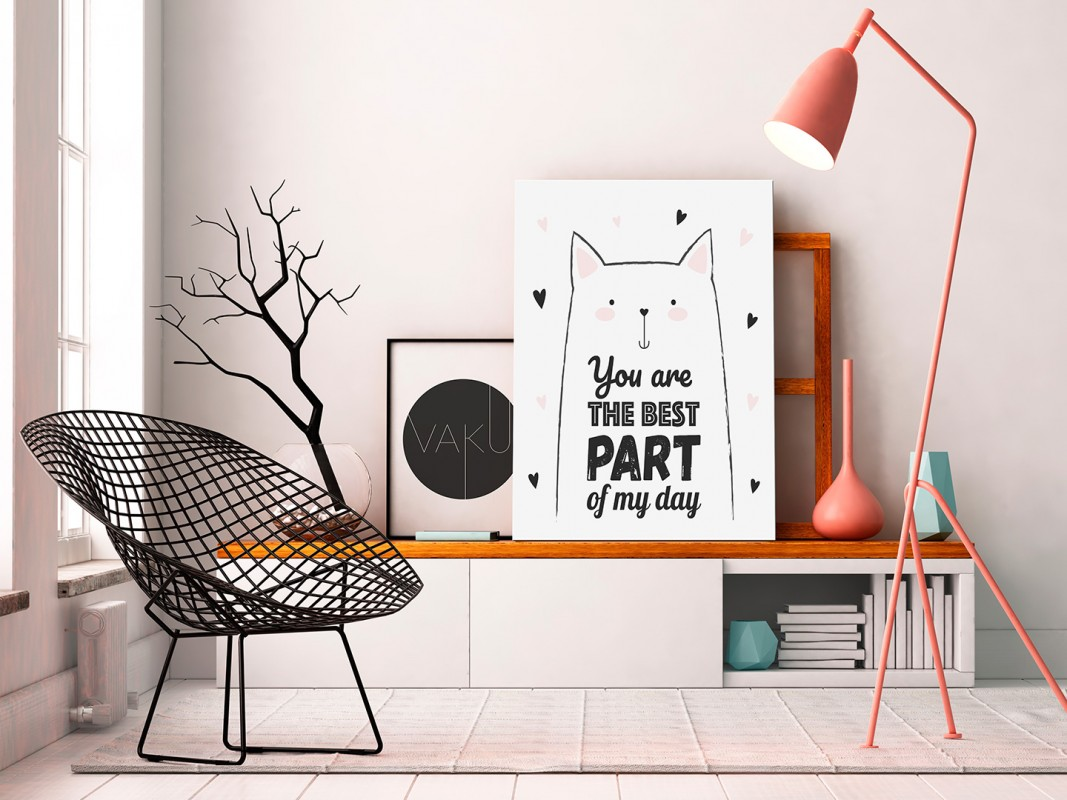 You are the best part of my day - nowoczesny obraz na płótnie - 50x70 cm