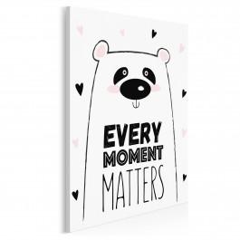 Every moment matters - nowoczesny obraz na płótnie - 50x70 cm