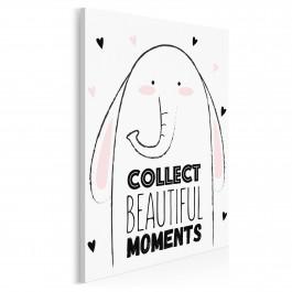 Collect beautiful moments - nowoczesny obraz na płótnie