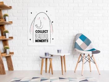 Collect beautiful moments - nowoczesny obraz na płótnie - 50x70 cm
