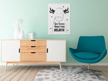 You become what you believe - nowoczesny obraz na płótnie - 50x70 cm