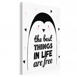 The best things in life are free - nowoczesny obraz na płótnie