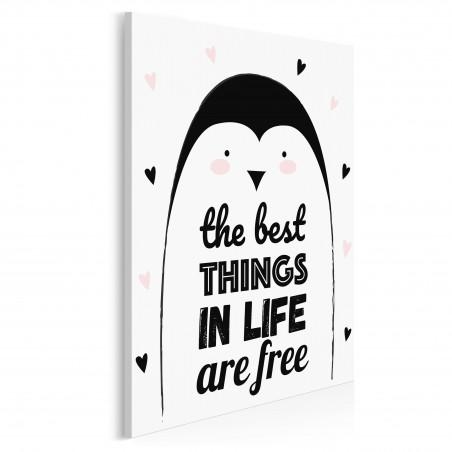 The best things in life are free - nowoczesny obraz na płótnie - 50x70 cm