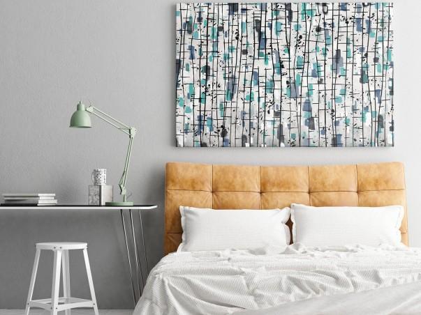 Nordyckie legendy - nowoczesny obraz do sypialni - 120x80 cm