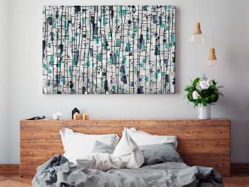 Nordyckie legendy - nowoczesny obraz do sypialni