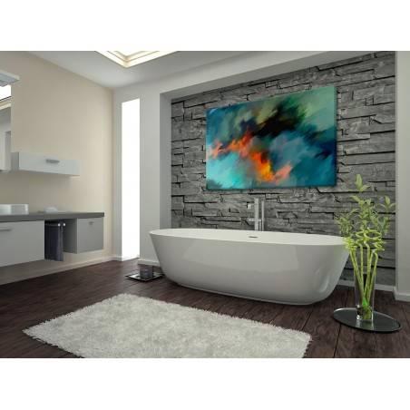 Płomienie na wietrze - nowoczesny obraz na płótnie - 120x80 cm