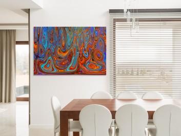 Wymiary czasu - nowoczesny obraz na płótnie - 120x80 cm