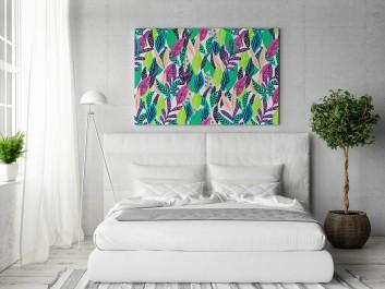 Herbarium - nowoczesny obraz do sypialni - 120x80 cm