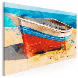 Samotna wyspa - nowoczesny obraz na płótnie - 120x80 cm