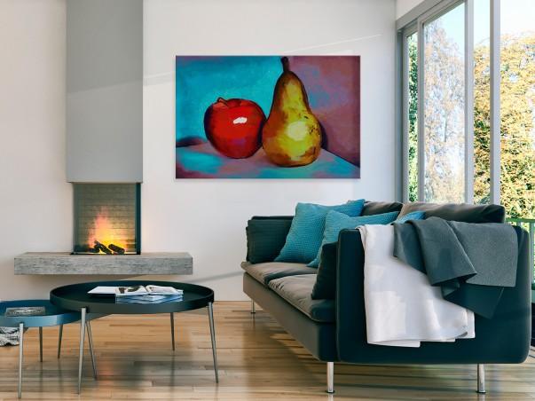 Martwa natura - nowoczesny obraz do kuchni - 120x80 cm