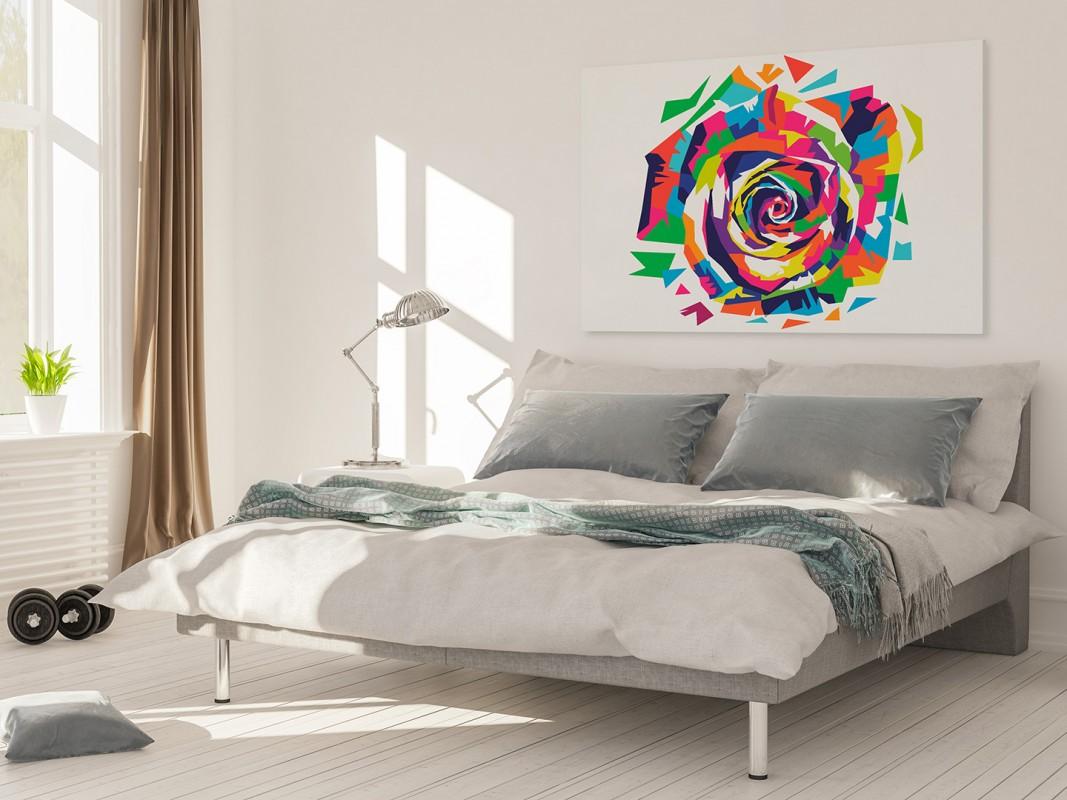 Róża małego księcia - nowoczesny obraz na płótnie - 120x80 cm