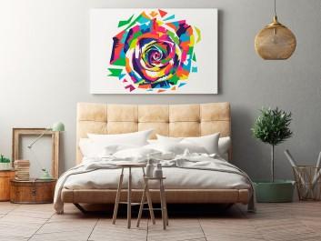 Róża małego księcia - nowoczesny obraz na płótnie