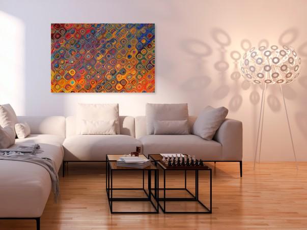 Pomieszanie z poplątaniem - nowoczesny obraz na płótnie - 120x80 cm
