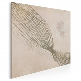 Krzywe życia - nowoczesny obraz na płótnie - 80x80 cm