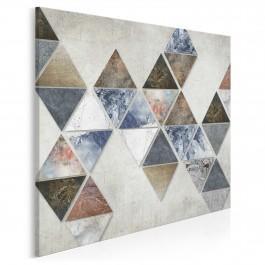 Finezyjna forma - nowoczesny obraz na płótnie - w kwadracie