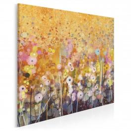 Florystyczna hegemonia - nowoczesny obraz do salonu - 80x80 cm