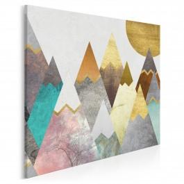 Lukrowe wierchy - nowoczesny obraz na płótnie - 80x80 cm