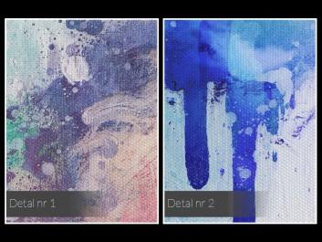 Absorpcja - nowoczesny obraz na płótnie - 80x80 cm