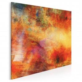 Błysk i mrok - nowoczesny obraz na płótnie - 80x80 cm