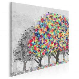 Afirmacja życia - nowoczesny obraz na płótnie - 80x80 cm