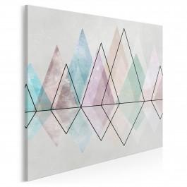 Diamentowy szlak - nowoczesny obraz na płótnie - w kwadracie