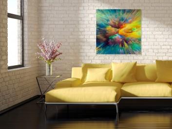 Akt ekstazy - nowoczesny obraz do salonu - 80x80 cm