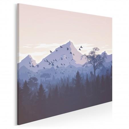 Pożegnanie lata - nowoczesny obraz do salonu - 80x80 cm