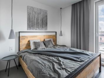 Styczeń w Petersburgu - nowoczesny obraz do sypialni - 80x80 cm