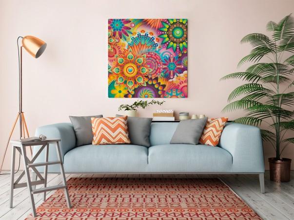 Oczyszczająca mantra - nowoczesny obraz na płótnie - 80x80 cm