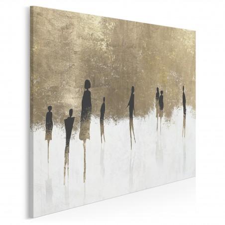 Znajomi nieznajomi - nowoczesny obraz na płótnie - 80x80 cm