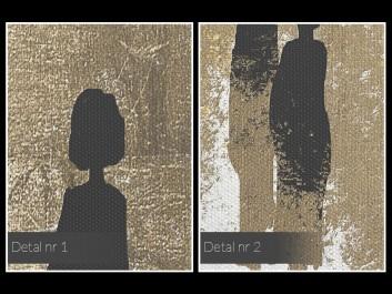 Znajomi nieznajomi - nowoczesny obraz na płótnie - w kwadracie