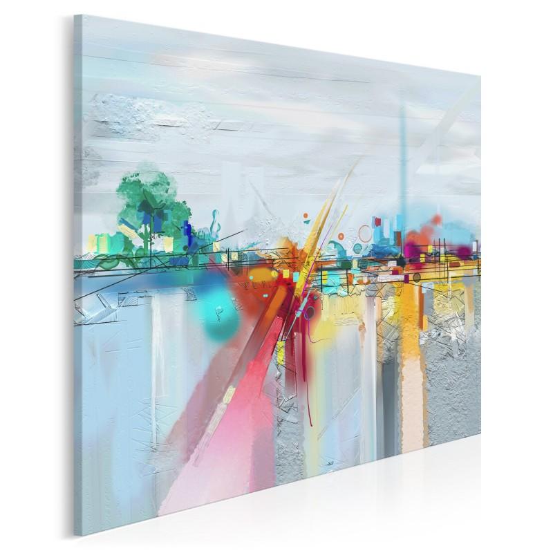 Hydrosfera - nowoczesny obraz do salonu - w kwadracie