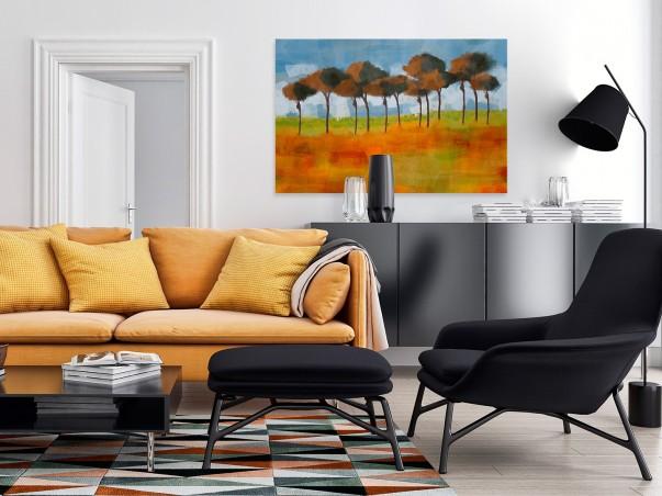 Polesie - nowoczesny obraz do sypialni - 120x80 cm