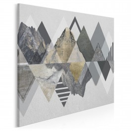 Majestatyczność gór - nowoczesny obraz na płótnie - 80x80 cm