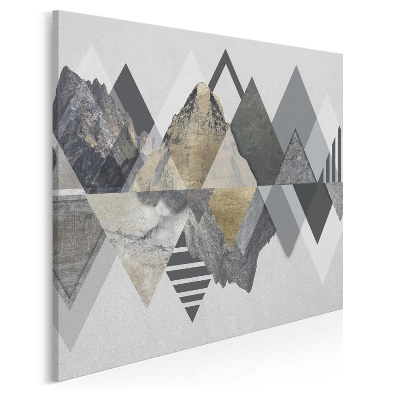 Majestatyczność gór - nowoczesny obraz na płótnie - w kwadracie